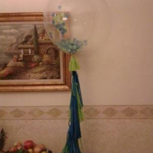 Set of 3 Clear balloons filled w/ c..