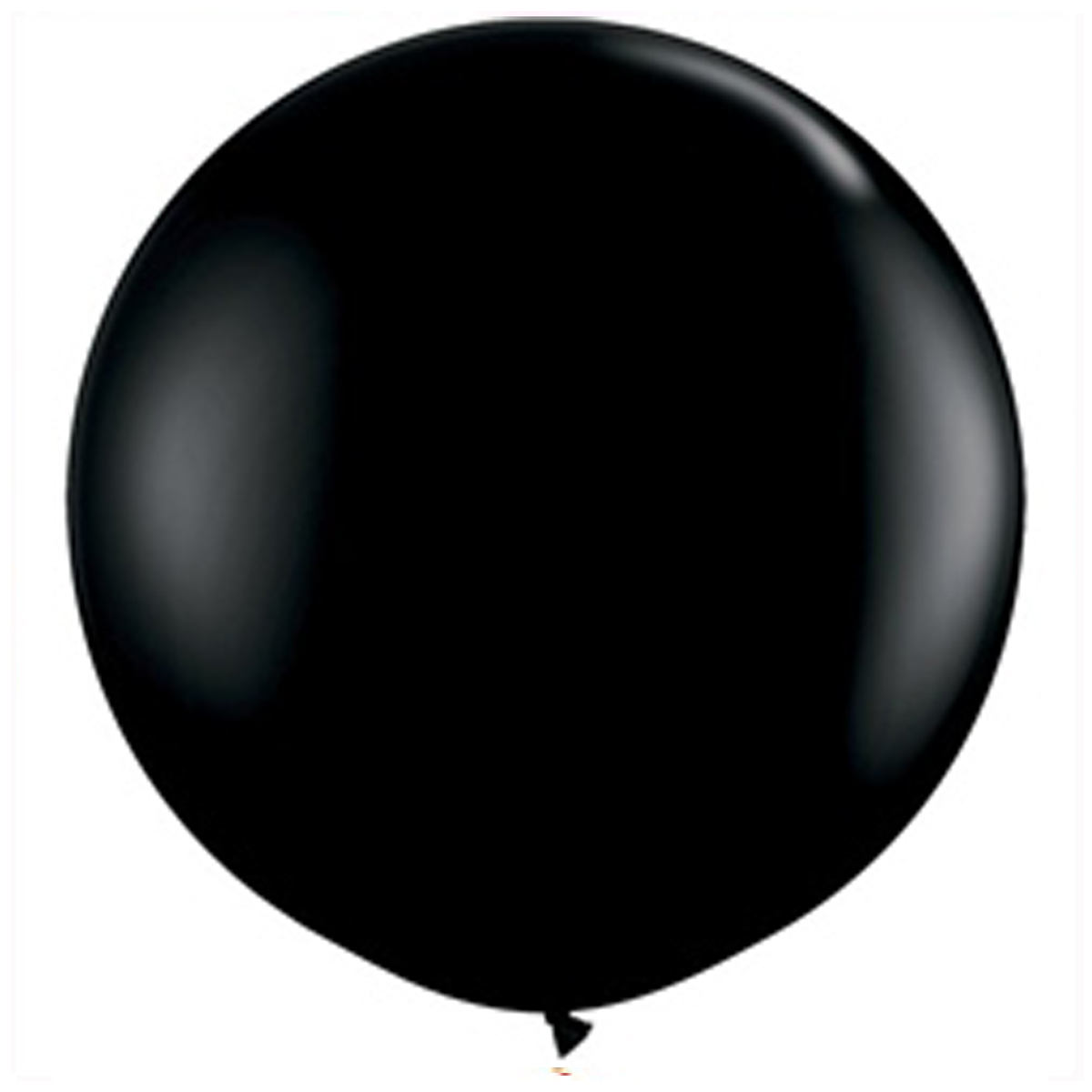 Five Baby Gender reveal confetti balloon. 24' Black balloons with confetti.